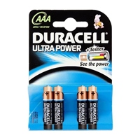 Duracell Pilas Alcalinas Ultra Power AAA 1.5V 4 unidades