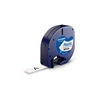 Dymo cinta de plástico negro / blanco 12mm x 4m - Recambio