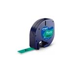 Dymo cinta de plástico negro / verde 12mm x 4m - Recambio