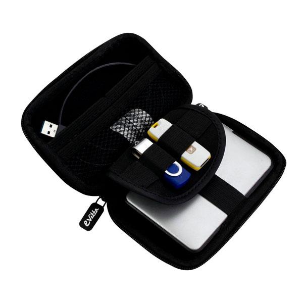 "E-vitta carbon fiber silver 2.5"" - Funda HDD"