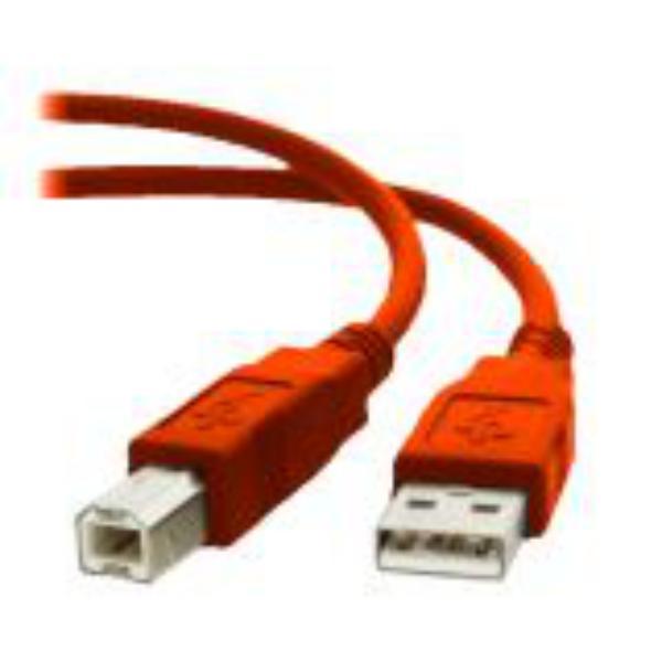Equip USB USB 20 AB 18M Color Rojo  Cable de datos