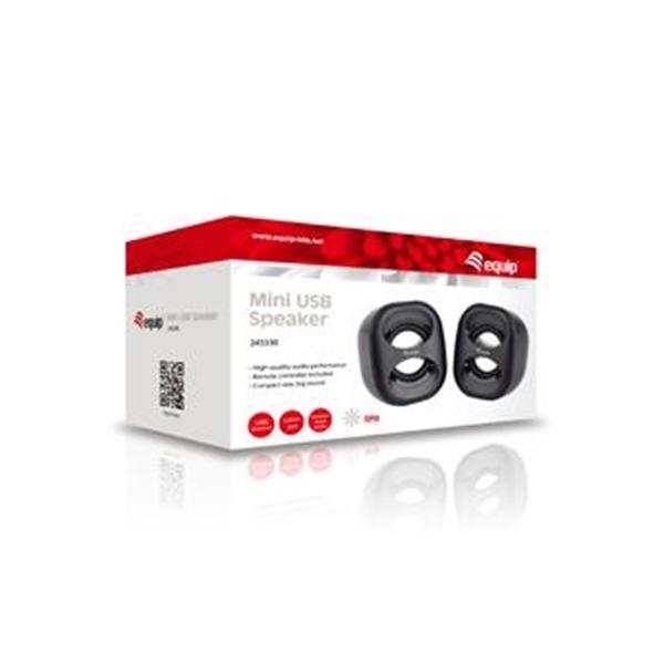 Equip Altavoces Estereo Mini 20 6W USB Rojo