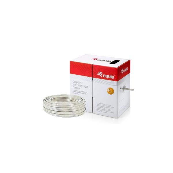Equip bobina cable 305M Cat6 U/UTP Rígido LSZH - Cable red