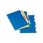 Esselte Separadores de Plástico 10 hojas Colores Vivos Formato A4