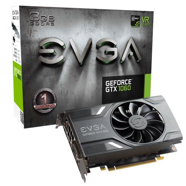 EVGA GeForce GTX 1060 Gaming ACX 2.0, 3072 MB GDDR5