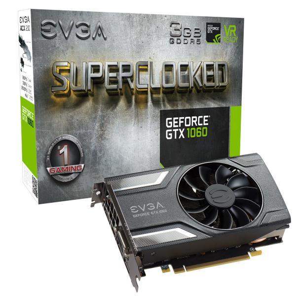 EVGA GeForce GTX 1060 SC Gaming, 3GB GDDR5 – Gráfica
