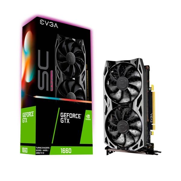 EVGA GeForce GTX 1660 SC Ultra Gaming 6GB  Tarjeta Gráfica