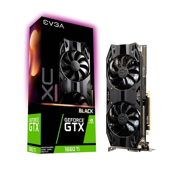 EVGA GeForce GTX 1660 Ti XC Ultra Black Gaming 6GB  Gráfica