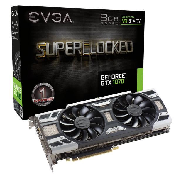 EVGA GeForce GTX 1070 SC Gaming ACX 30 8GB GDDR5  Gráfica