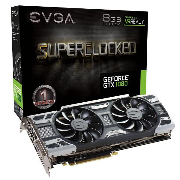 EVGA GeForce GTX 1080 SC Gaming ACX 30 8GB GDDR5X  Gráfica