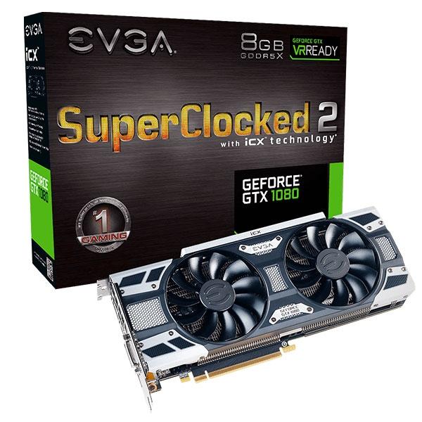 EVGA Nvidia GeForce GTX1080 SC 2 Gaming 8GB – Gráfica