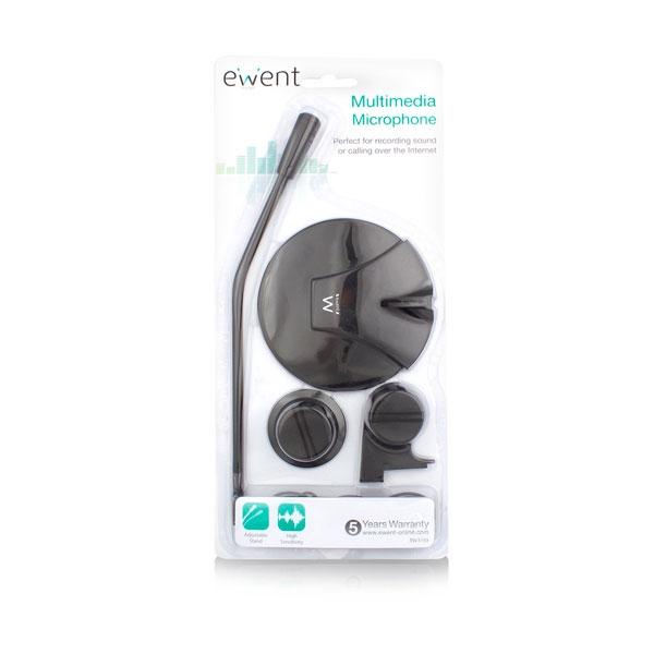 Ewent EW3550 Micrófono Multimedia Negro