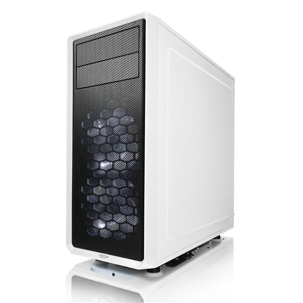 Fractal Focus G blanca con ventana  Caja