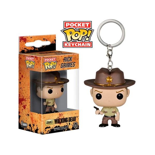 Llavero Pocket POP The Walking Dead Rick Grimes