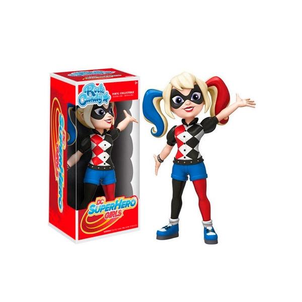Figura Rock Candy DC Super Hero Girls Harley Quinn