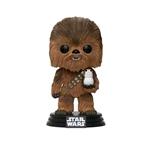 Figura POP Star Wars TLJ Chewbacca with Porg Flocked Exclus