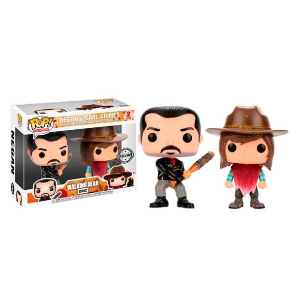 Pack 2 figuras POP! The Walking Dead Negan & Carl Exclusive