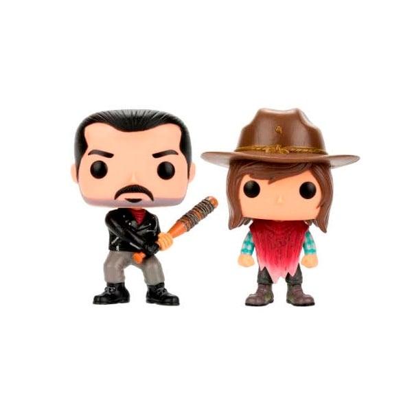 Pack 2 figuras POP The Walking Dead Negan amp Carl Exclusive