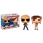 Set figuras POP Marvel Captain Marvel vs Chun-Li