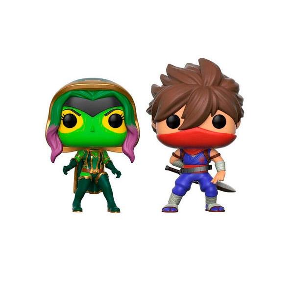 Set figuras POP Marvel Gamora vs Strider