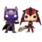 Set figuras POP Black Panther vs Monster Hunter