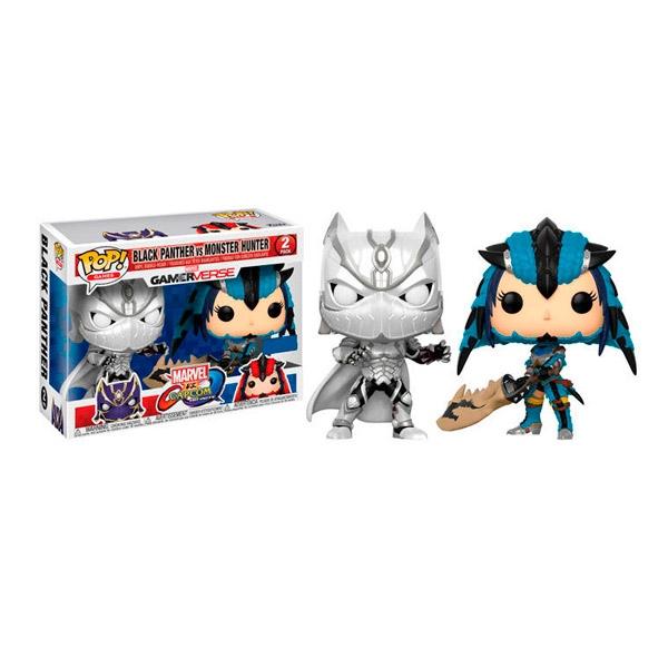 Figuras POP Capcom vs Marvel Black Panther vs Monster Hunter