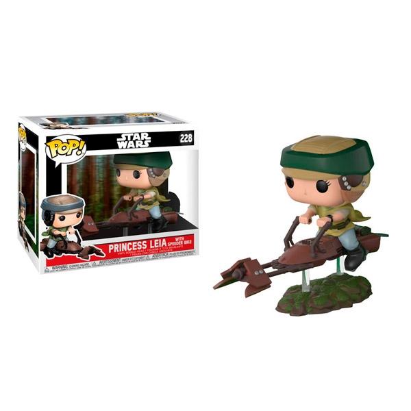 Figura POP Star Wars Leia on Speeder Bike Deluxe