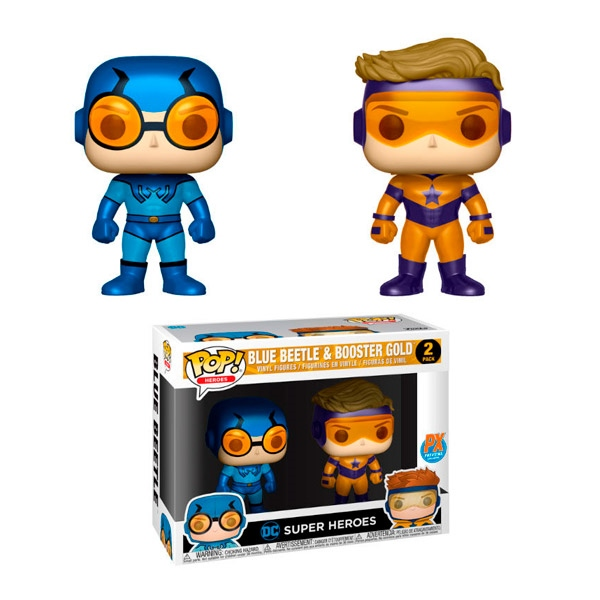 Figuras POP DC Blue Beetle amp Booster Gold Metallic Exclusive