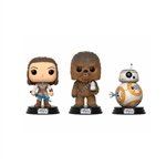 Set 3 figuras POP Star Wars VIII The Last Jedi Good Guys