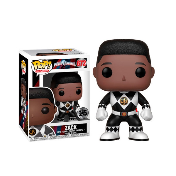 Figura POP Power Rangers Black Ranger Zack No Helmet