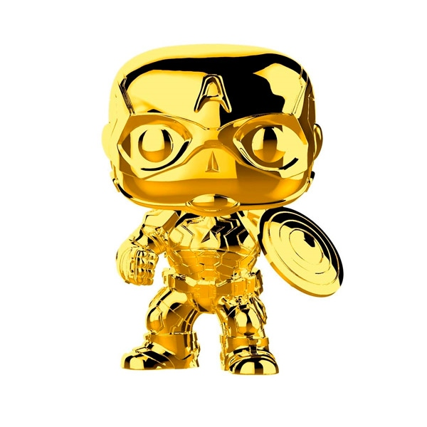 Figura POP Marvel Studios 10 Capitan America Gold Chrome