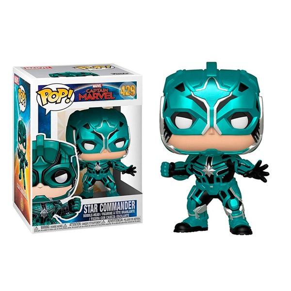 Figura POP Marvel Capitana Marvel Star Commander
