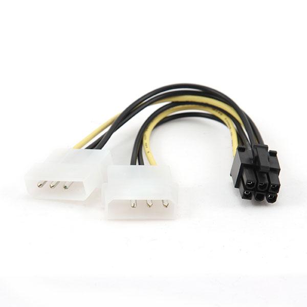 GeMBird conector Molex 4-pin a PCI-E 6 pin – Cable