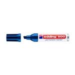 Edding 500 Rotulador Permanente Azul Punta Biselada 27mm