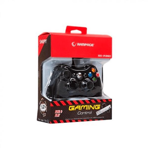 GAMEPAD RAMPAGE SNOPY SGR360 NEGRO