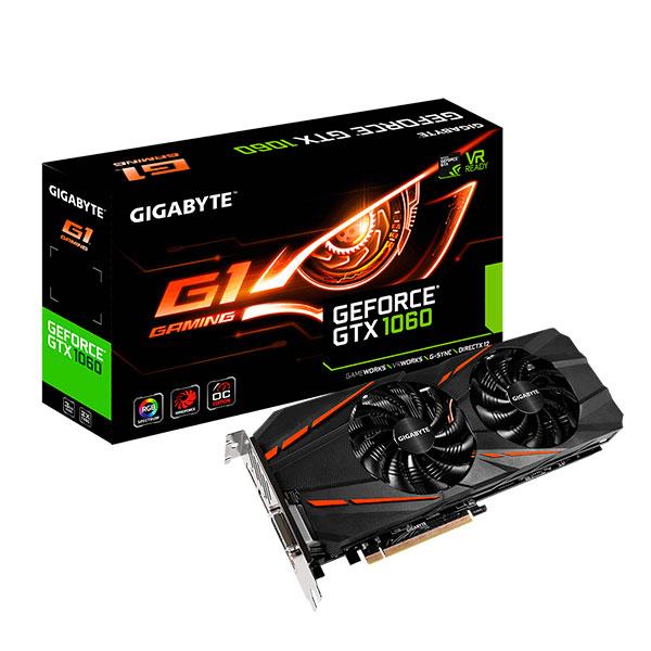 Gigabyte Nvidia GeForce GTX1060 G1 Gaming 3GB – Gráfica