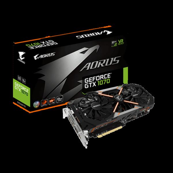 Gigabyte Nvidia GeForce GTX1070 Aorus 8GB – Gráfica