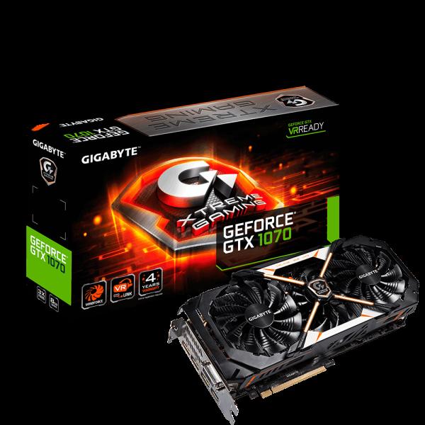 Gigabyte Nvidia GeForce GTX1070 XTREME 8GB - Gráfica