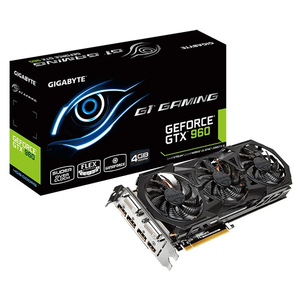 Gigabyte Nvidia GeForce GTX960 G1 Gaming 4GB DDR5 – Gráfica