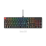 Glorious PC Gaming Race Keycaps ABS 105 Negro Layout CH