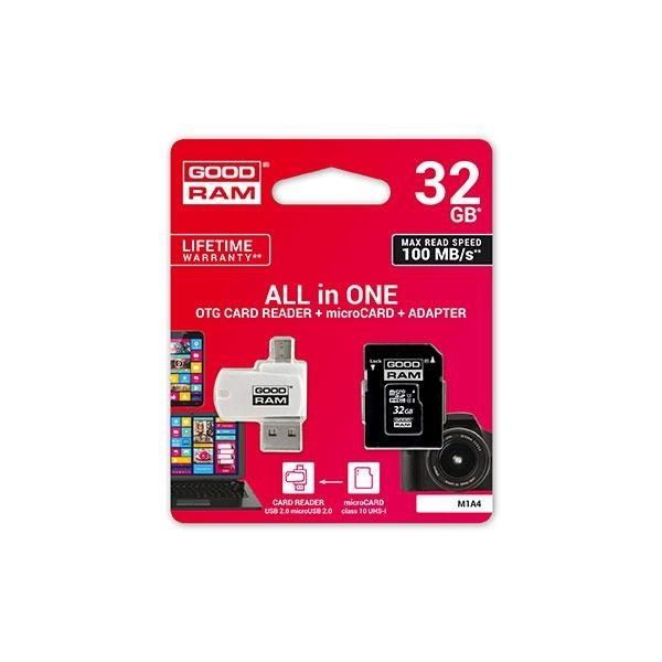 GOODRAM Micro SD 32GB M1A4 CL10 UHSI  lector  Memoria