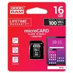 GOODRAM Micro SD 16GB M1AA CL10 UHSI  adaptador  Memoria