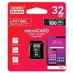 GOODRAM Micro SD 32GB M1AA CL10 UHSI  adaptador  Memoria