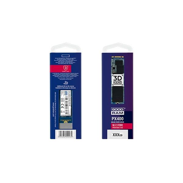GOODRAM M.2 PCIe NVMe 256GB PX400 - Disco Duro Sólido