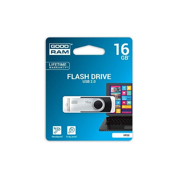 GOODRAM Pendrive 16GB UTS2 USB 20 Negro  Memoria
