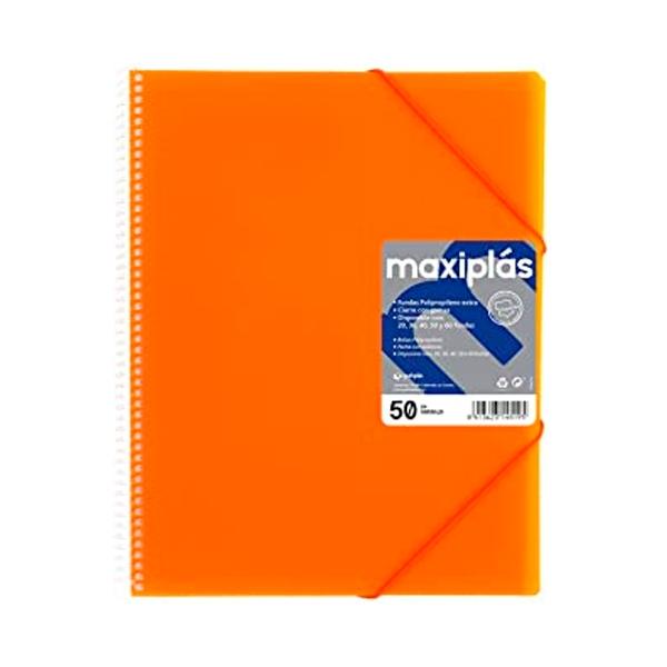 Grafoplás Carpeta Maxiplás Fluorgraf con 50 fundas Naranja