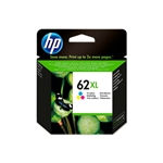 HP 62XL Tri-color Ink Cartridge C2P07AE - Cartucha de tinta