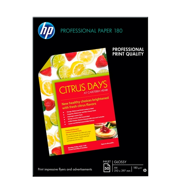 HP Papel satinado inyeccin de tinta 50 hojas A4  Papel