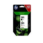 HP 301 negro y tricolor 190165 pag  Tinta