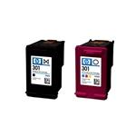 HP 301 negro y tricolor 190/165 pag - Tinta
